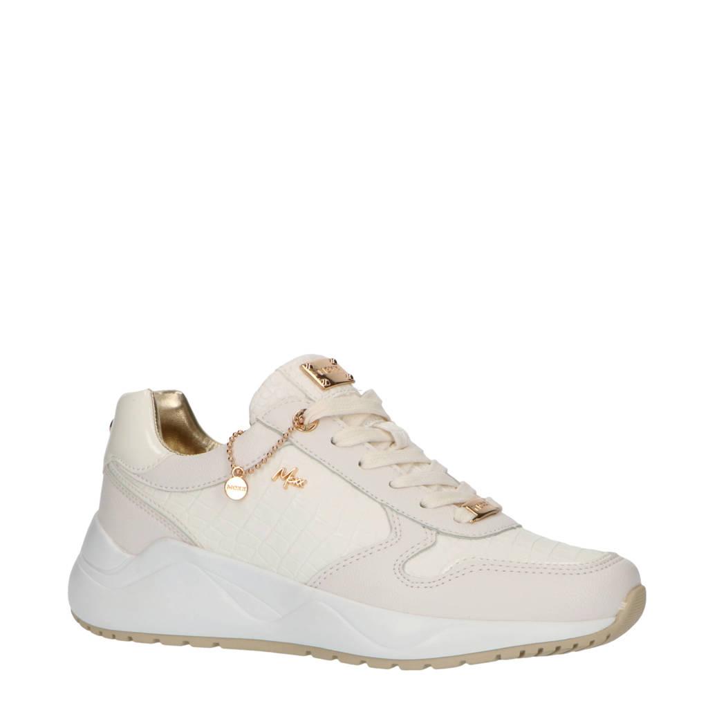 Mexx Gisa  chunky sneakers met crocoprint wit/ecru, Wit/ecru