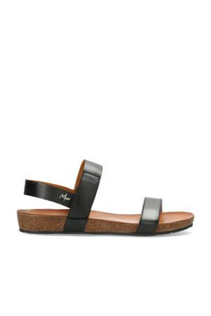 Groove  leren sandalen zwart