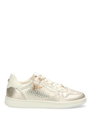 Giselle  sneakers met crocoprint goud