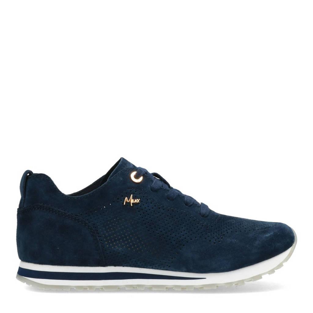 Mexx Cirsten  suède sneakers donkerblauw, Donkerblauw