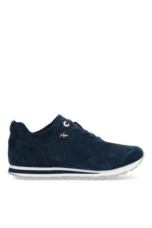 Cirsten  suède sneakers donkerblauw