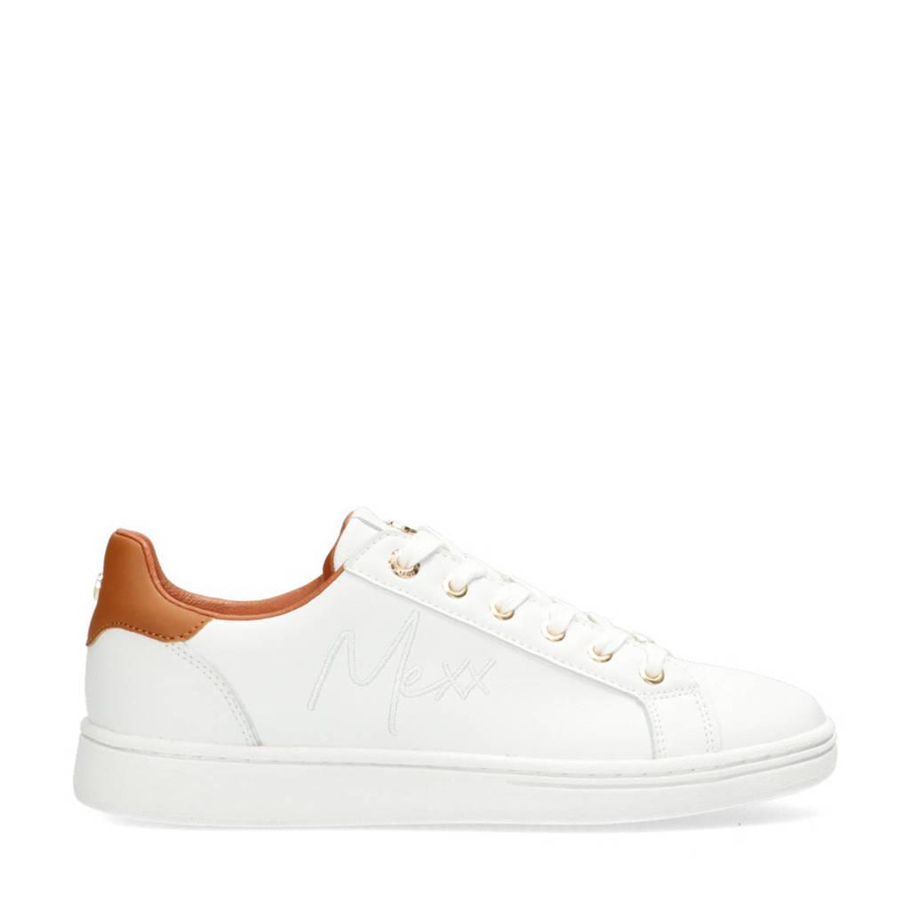 Mexx Glib  sneakers wit/cognac, Wit/Cognac