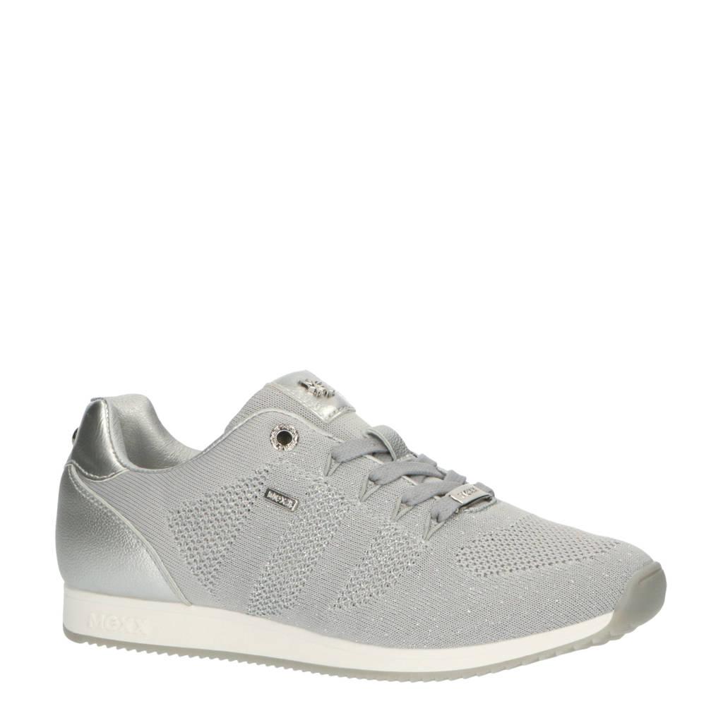 Mexx Djaimy 2  sneakers grijs, Grijs/zilver