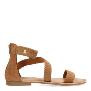 Eda  leren sandalen bruin