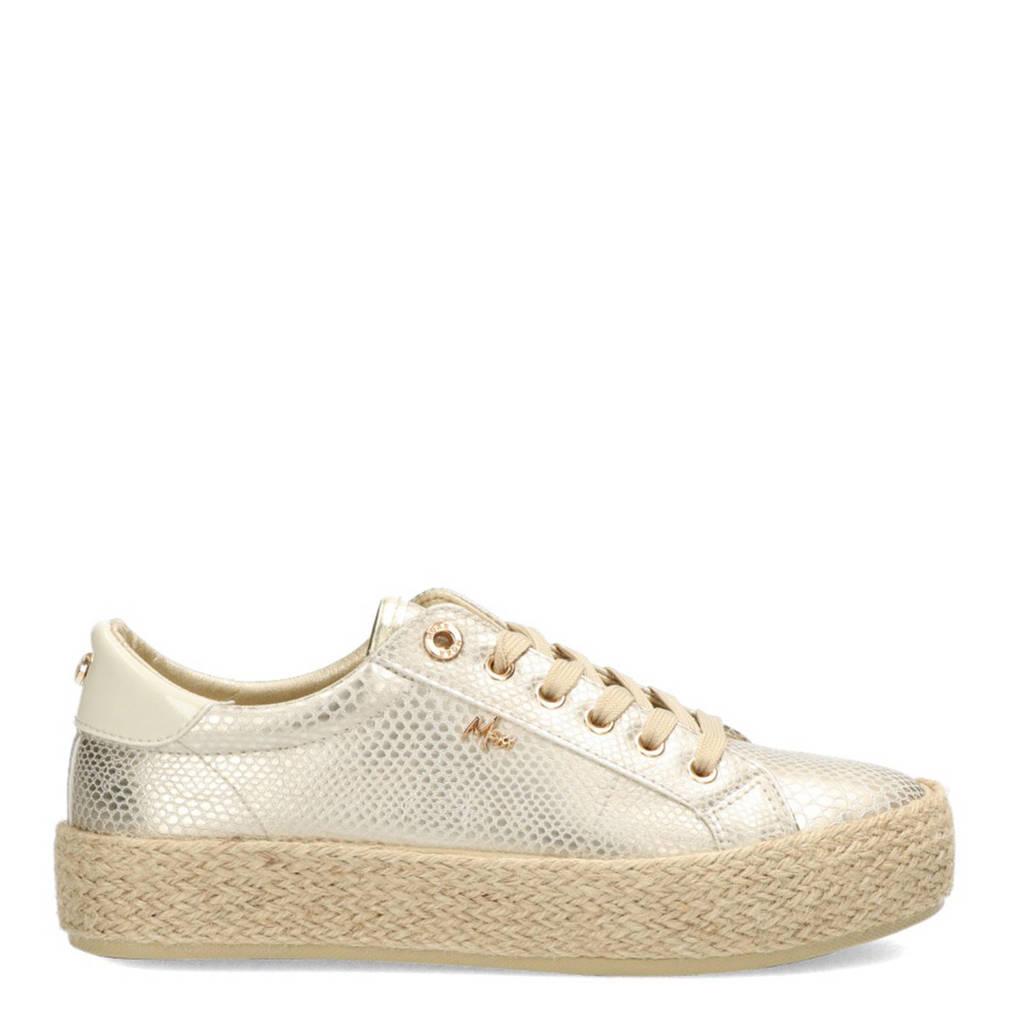 Mexx Chevelijn  sneakers met slangenprint goud, Goud