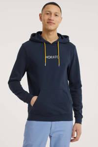 Antony Morato hoodie met logo donkerblauw, Donkerblauw
