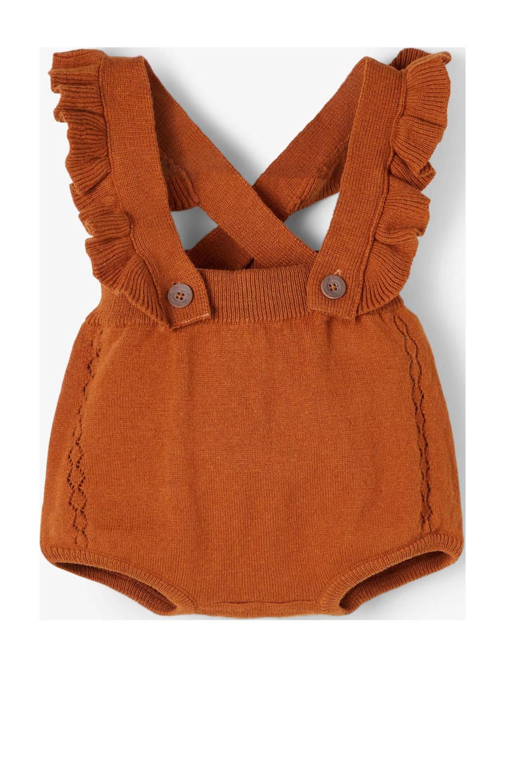 LIL' ATELIER BABY baby boxpak Fisadora met biologisch katoen donker oranje, Donker oranje