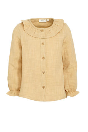 blouse Fina van biologisch katoen lichtgeel