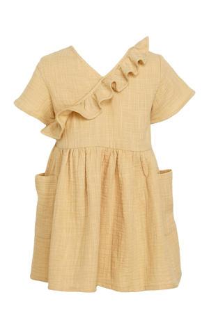 jurk Fina van biologisch katoen lichtgeel