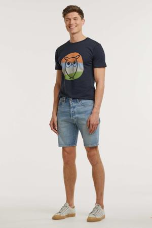 501 Hemmed regular fit jeans short light denim