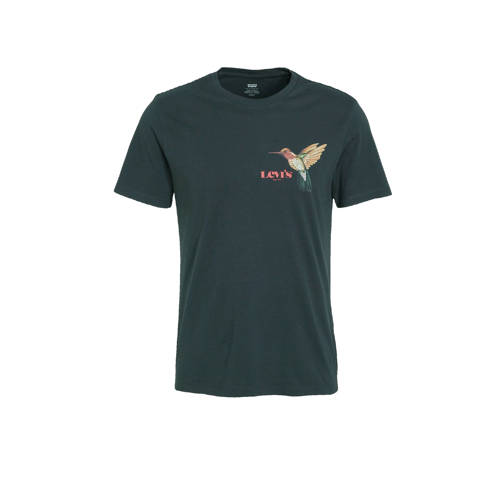 Levi's T-shirt met logo antraciet