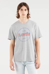 Levi's T-shirt met logo grijs melange, Grijs melange