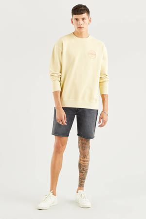 501 Hemmed regular fit jeans short zwart