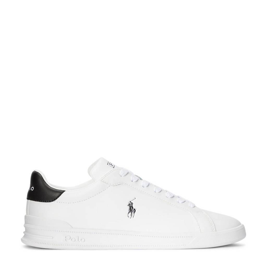 Ralph Lauren Heritage Court II  leren sneakers wit/donkerblauw, Wit/donkerblauw