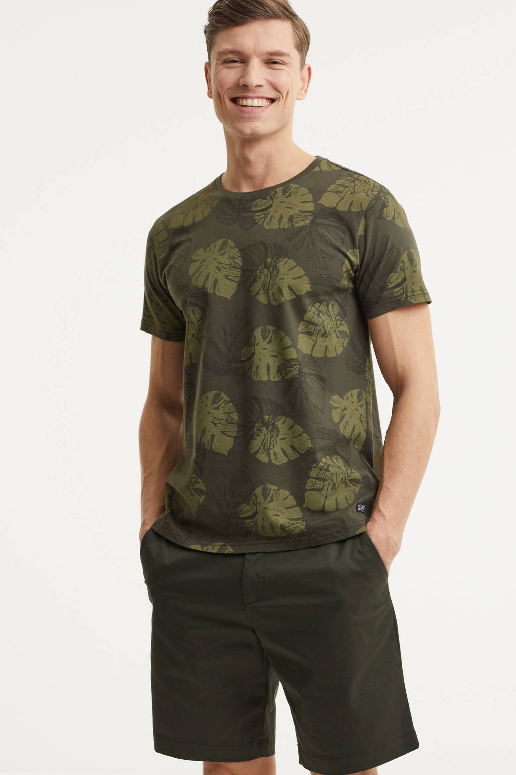 Petrol Industries T-shirt met all over print army, Army