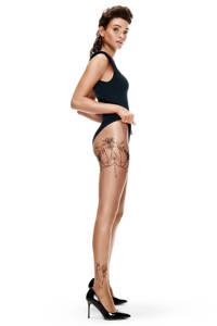Hunkemöller panty Leg Tattoos 15 denier nude, Nude