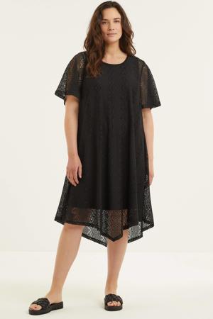 semi-transparante jurk Pernille zwart