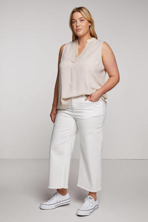 cropped wide leg jeans SIA wit