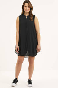 STUDIO semi-transparante tuniek Helga met open detail zwart, Zwart