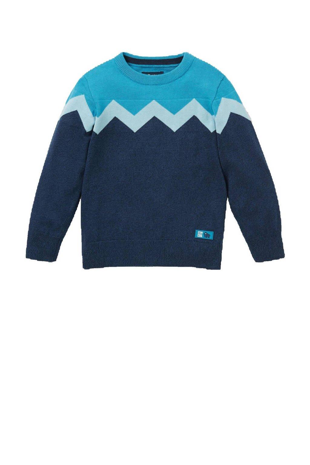 C&A Here & There trui donkerblauw/blauw/wit, Donkerblauw/blauw/wit