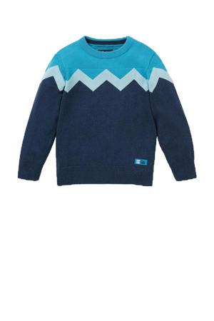 trui donkerblauw/blauw/wit