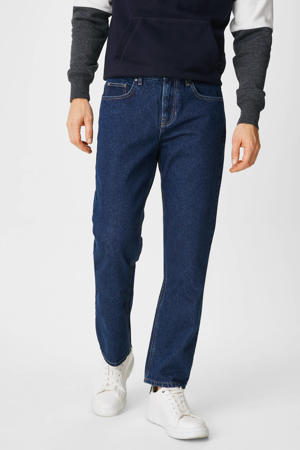 regular fit jeans donkerblauw