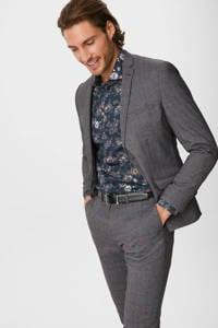 C&A Canda gebloemd slim fit overhemd donkerblauw/multi, Donkerblauw/multi