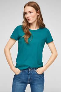 Q/S designed by T-shirt turquoise, Turquoise
