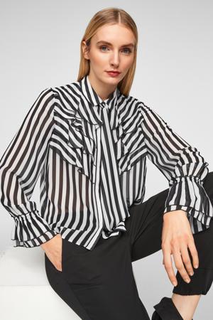 gestreepte blouse zwart/wit