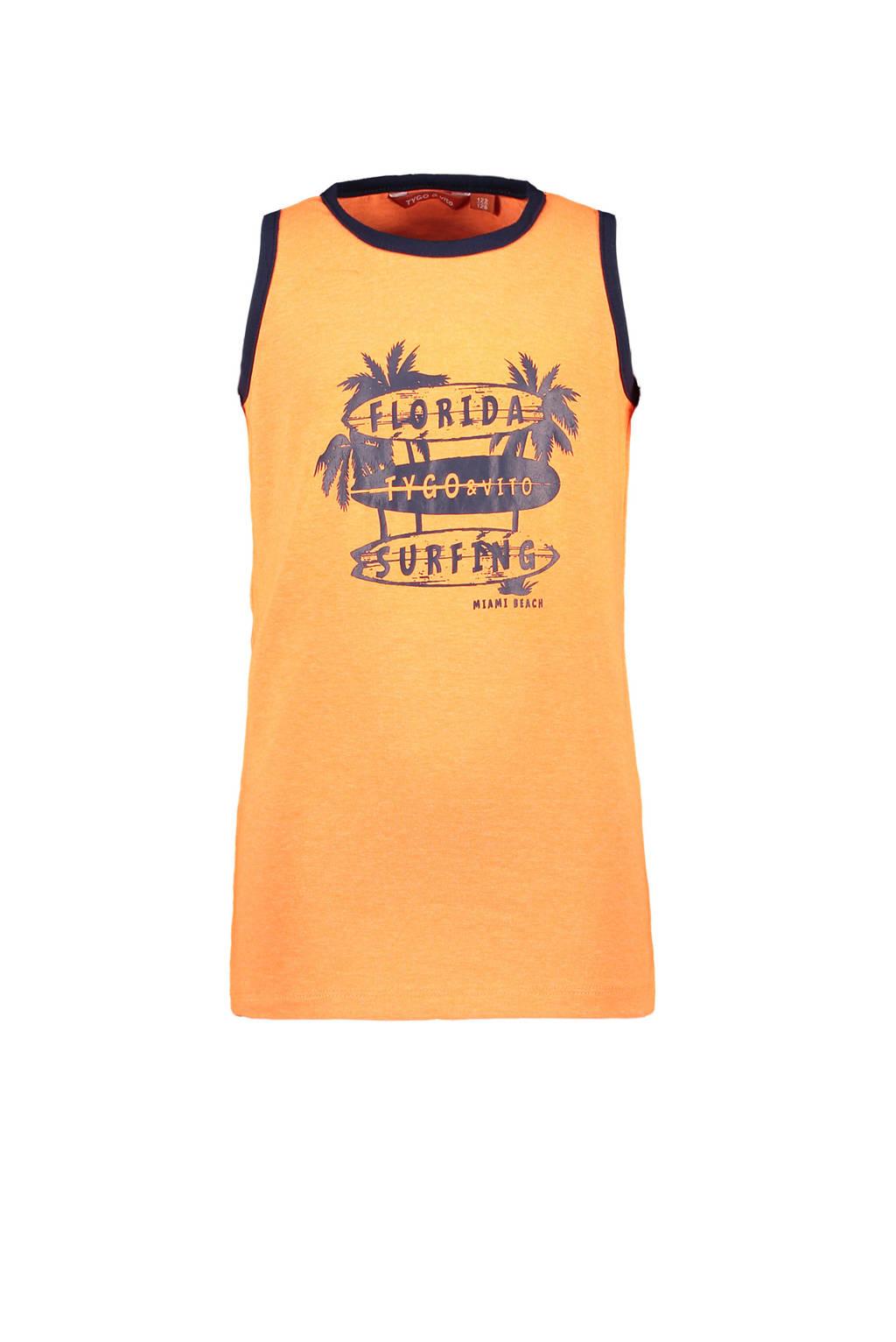 TYGO & vito T-shirt met biologisch katoen oranje, Oranje