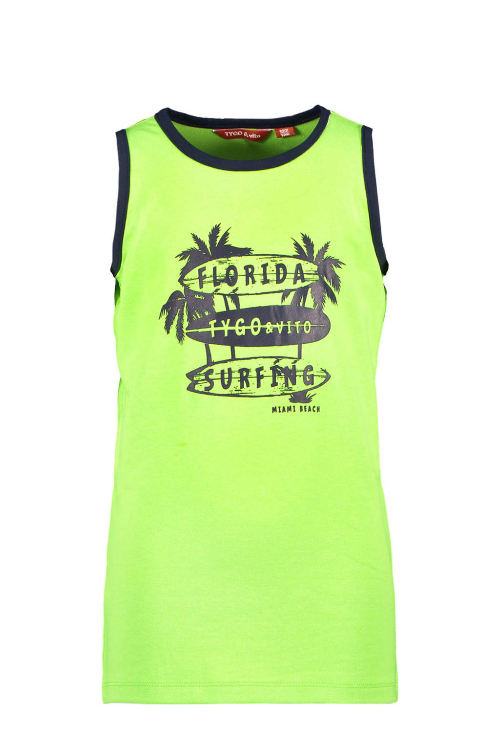 TYGO & vito T-shirt met biologisch katoen neon groen, Neon groen