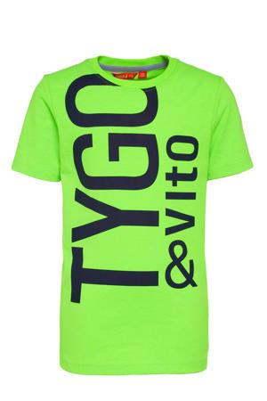 T-shirt met tekst groen