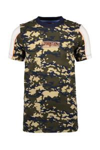 TYGO & vito T-shirt met biologisch katoen army groen/lichtbruin, Army groen/lichtbruin