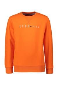 TYGO & vito sweater met tekst oranje, Oranje