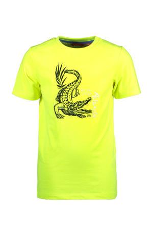 T-shirt met dierenprint geel/zwart