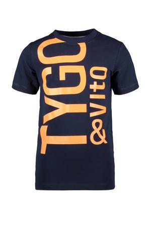 T-shirt met biologisch katoen donkerblauw