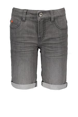 slim fit jeans bermuda grijs stonewashed