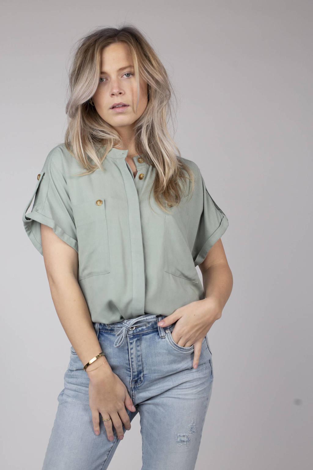 Circle of Trust blouse Mae vergrijsd groen, Vergrijsd groen