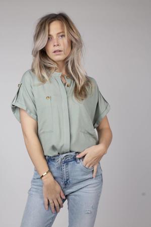 blouse Mae vergrijsd groen