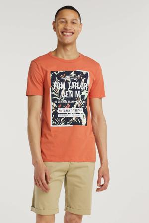 T-shirt met printopdruk orange lobster