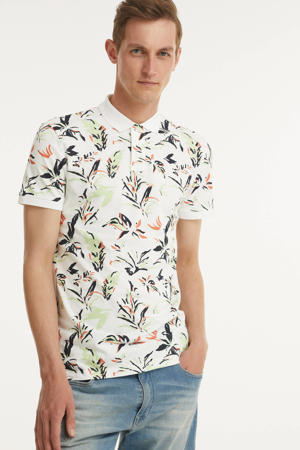 regular fit polo met all over print wit