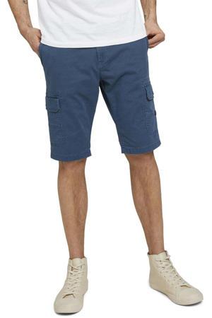 regular fit cargo bermuda Josh donkerblauw