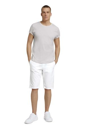 regular fit chino short off white
