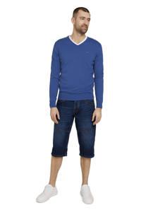 Tom Tailor regular fit jeans short Morris Overknee mid stone wash denim, Mid stone wash denim
