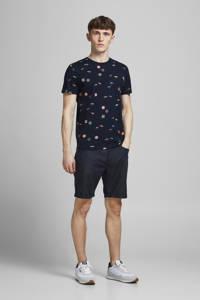 JACK & JONES ORIGINALS T-shirt Playa met all over print donkerblauw, Donkerblauw