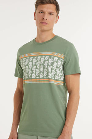 T-shirt Sunnys met printopdruk groen