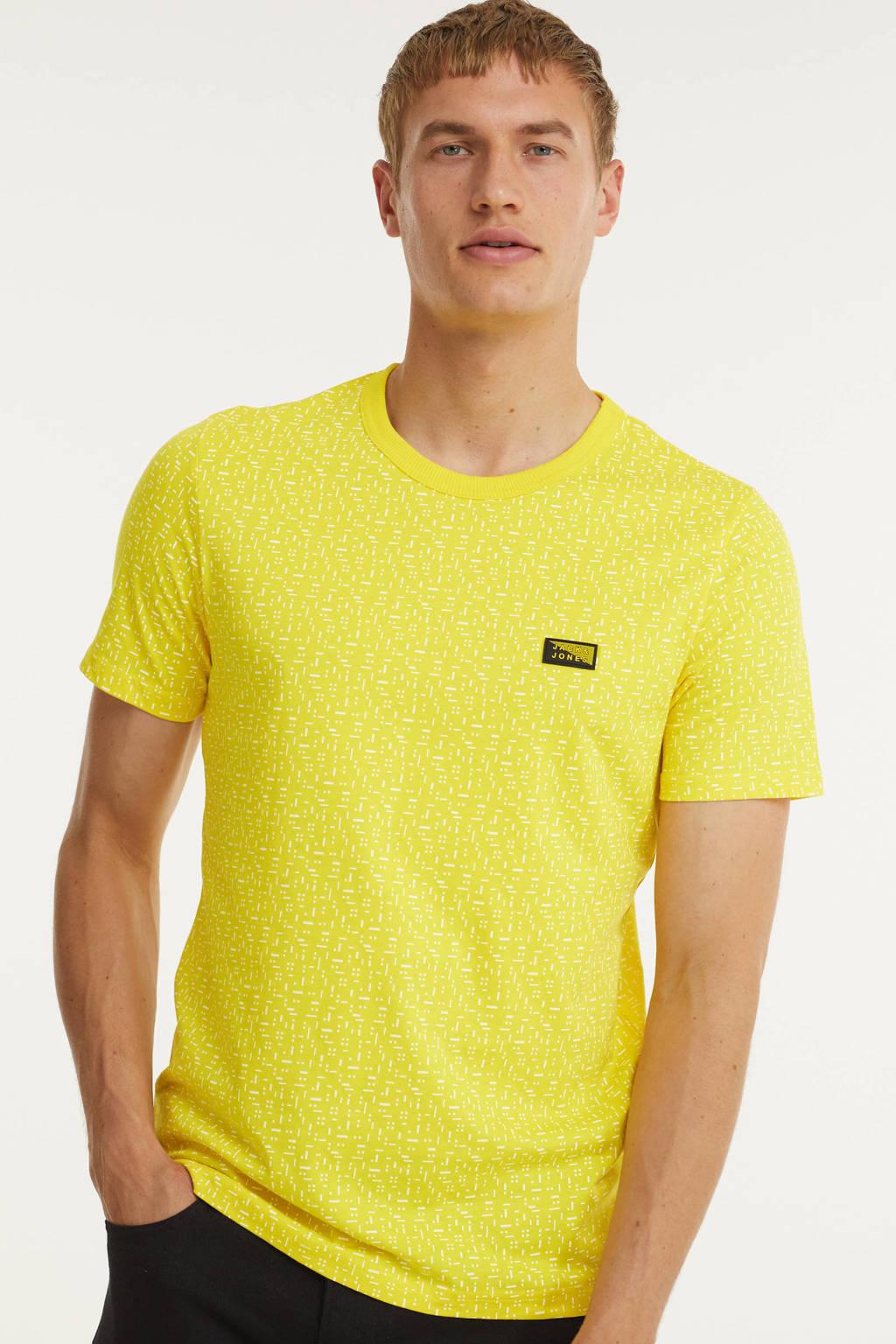JACK & JONES CORE T-shirt Bowden met all over print maize, Maize