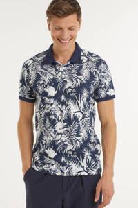JACK & JONES ORIGINALS regular fit polo met all over print navy blazer, Navy Blazer