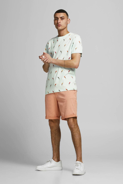 JACK & JONES ORIGINALS T-shirt Playa met all over print lichtblauw, Lichtblauw