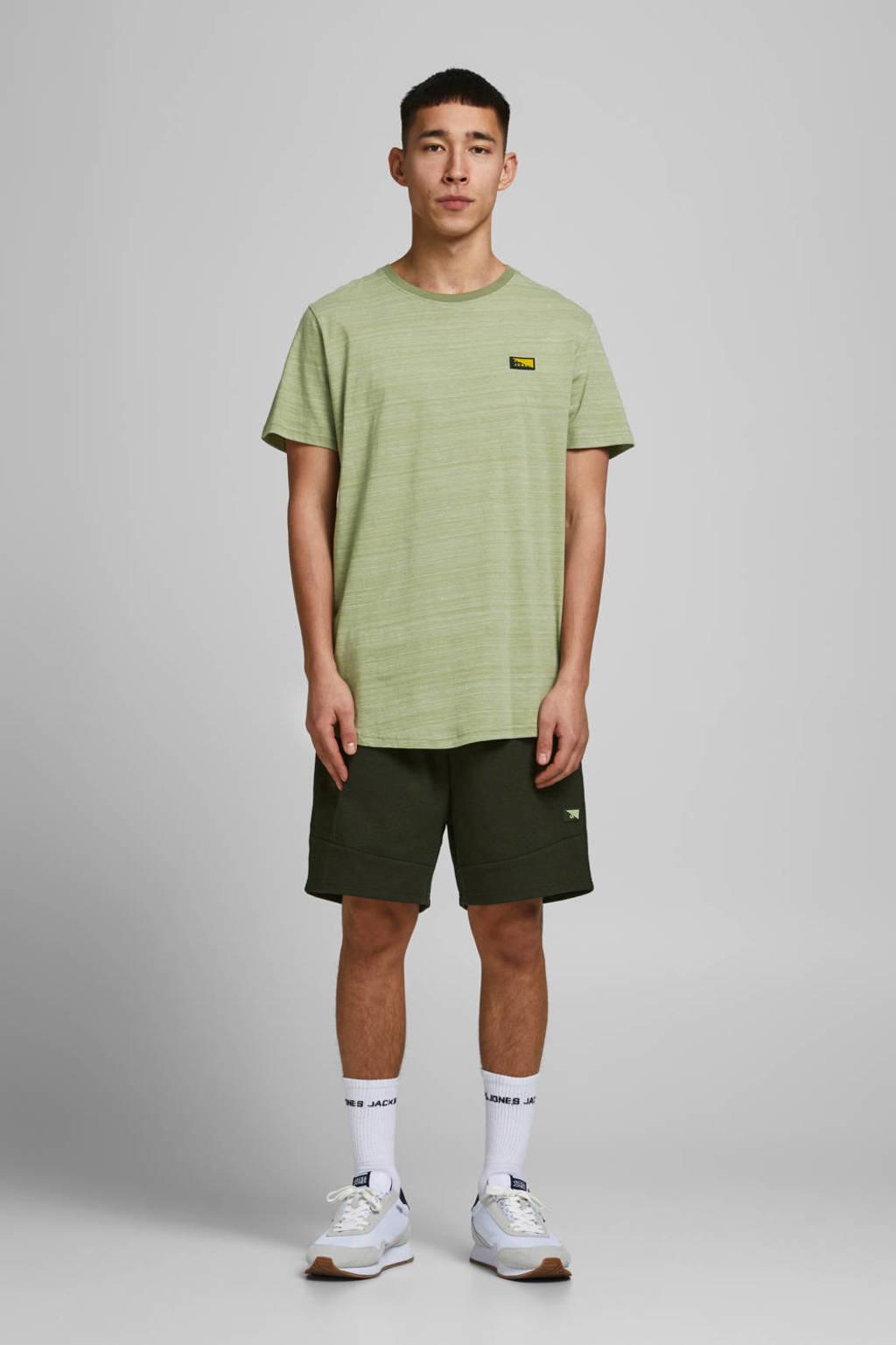 JACK & JONES CORE gemêleerd T-shirt lichtgroen, Lichtgroen